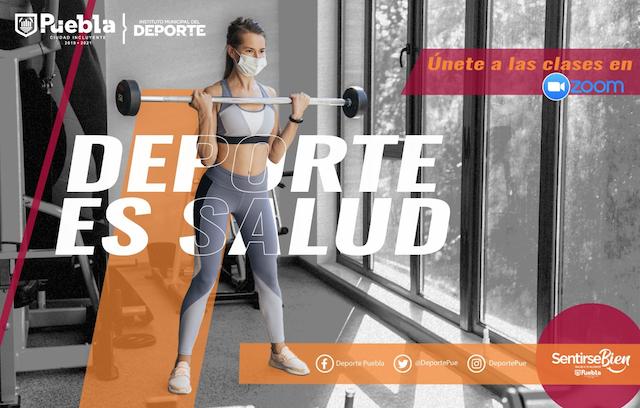 Con clases en línea, Ayuntamiento de Puebla fomenta la activación física
