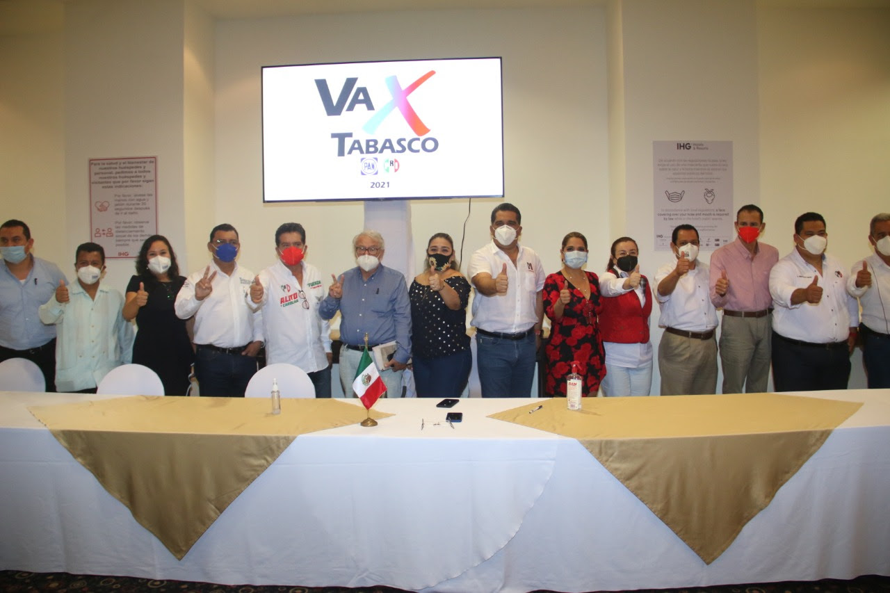 """Presentan PRI y PAN """"Va por Tabasco"""", gran alianza ciudadana para cambiar el rumbo del estado"""