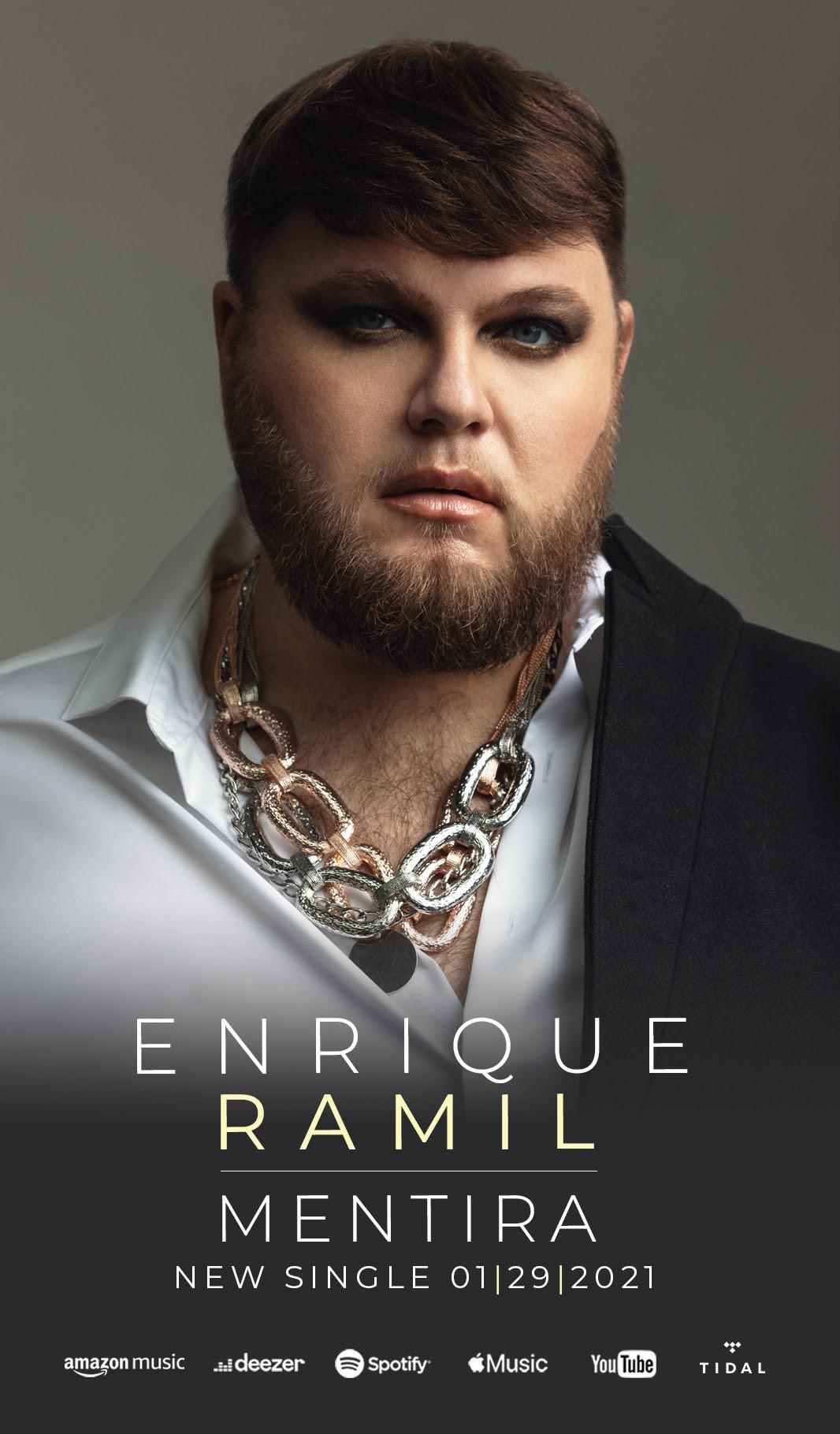 """El español Enrique Ramil presenta el sencillo """"Mentira"""", con producción del dúo SanLui"""