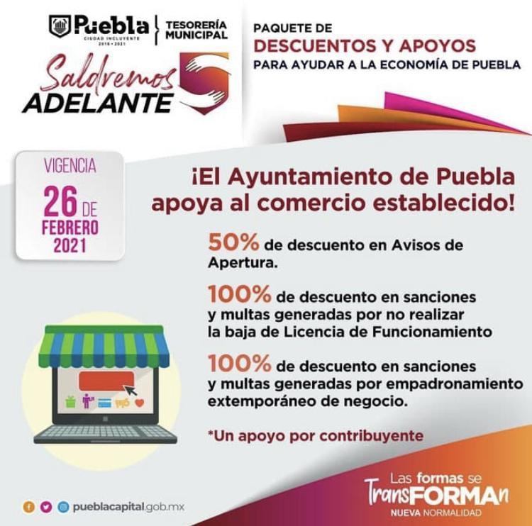Ayuntamiento de Puebla mantiene incentivos fiscales a favor de la ciudadanía