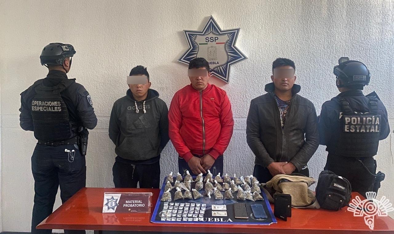 """En Acatzingo, capturados presuntos integrantes de la estructura de """"El Mamer"""""""