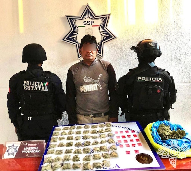 """Captura Policía Estatal a presunto narcomenudista de """"El Chupón"""""""