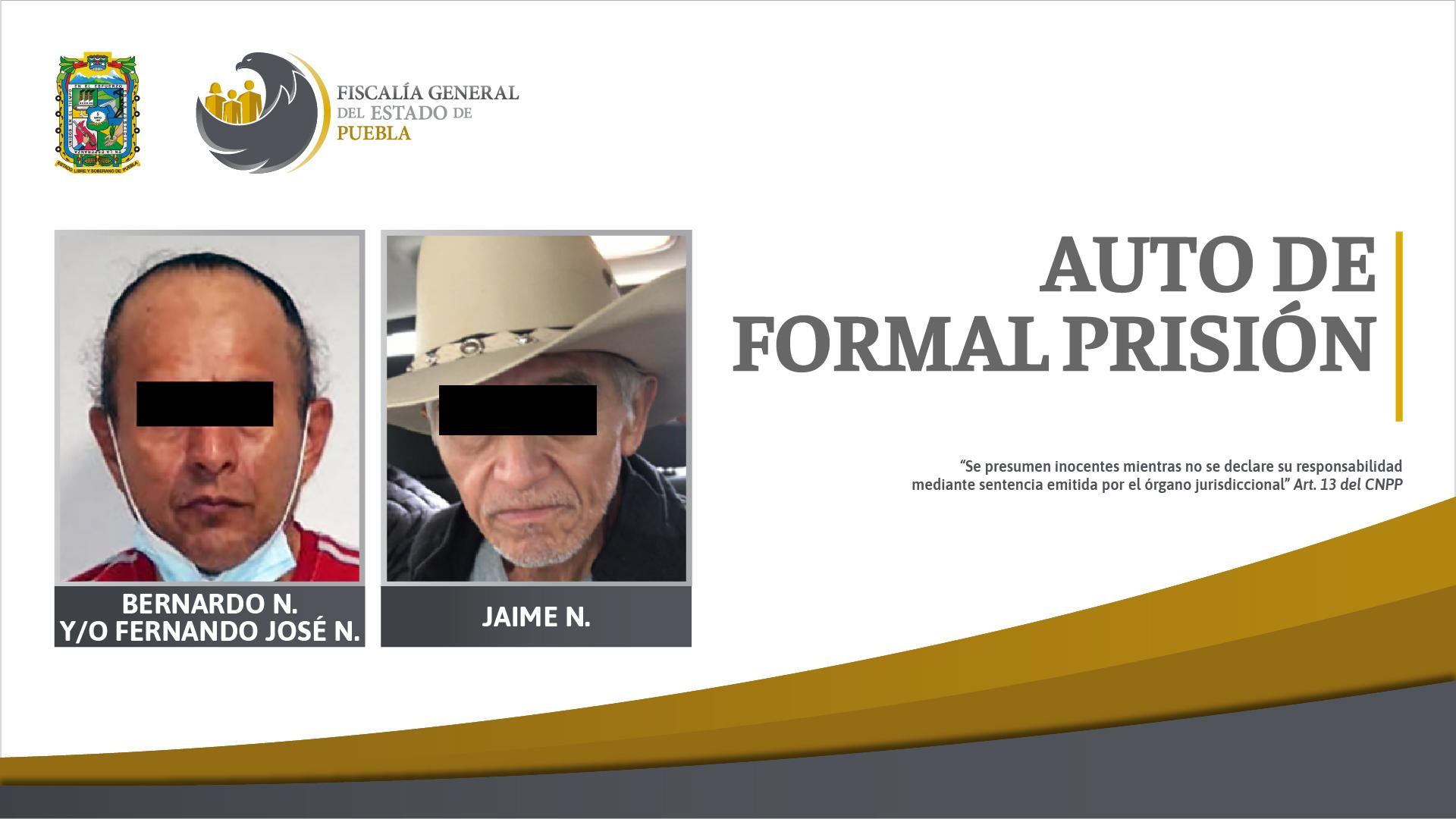 En prisión acusados de dos homicidios en Izúcar y Tlacuilotepec