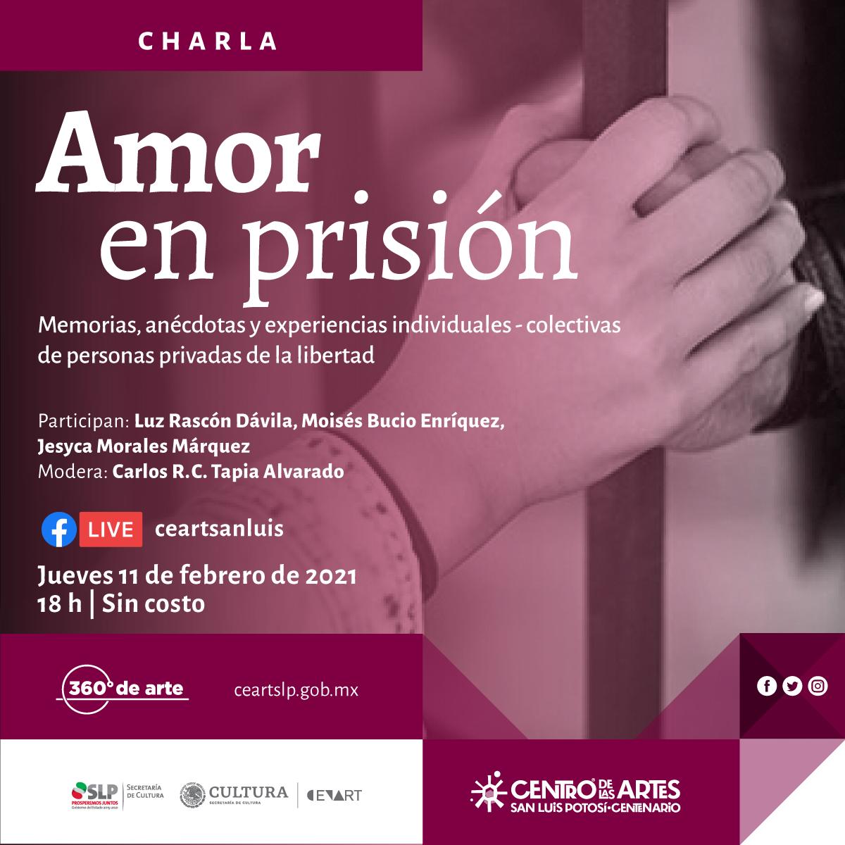 """""""Amor en prisión"""" charla virtual en el Centro de las Artes"""