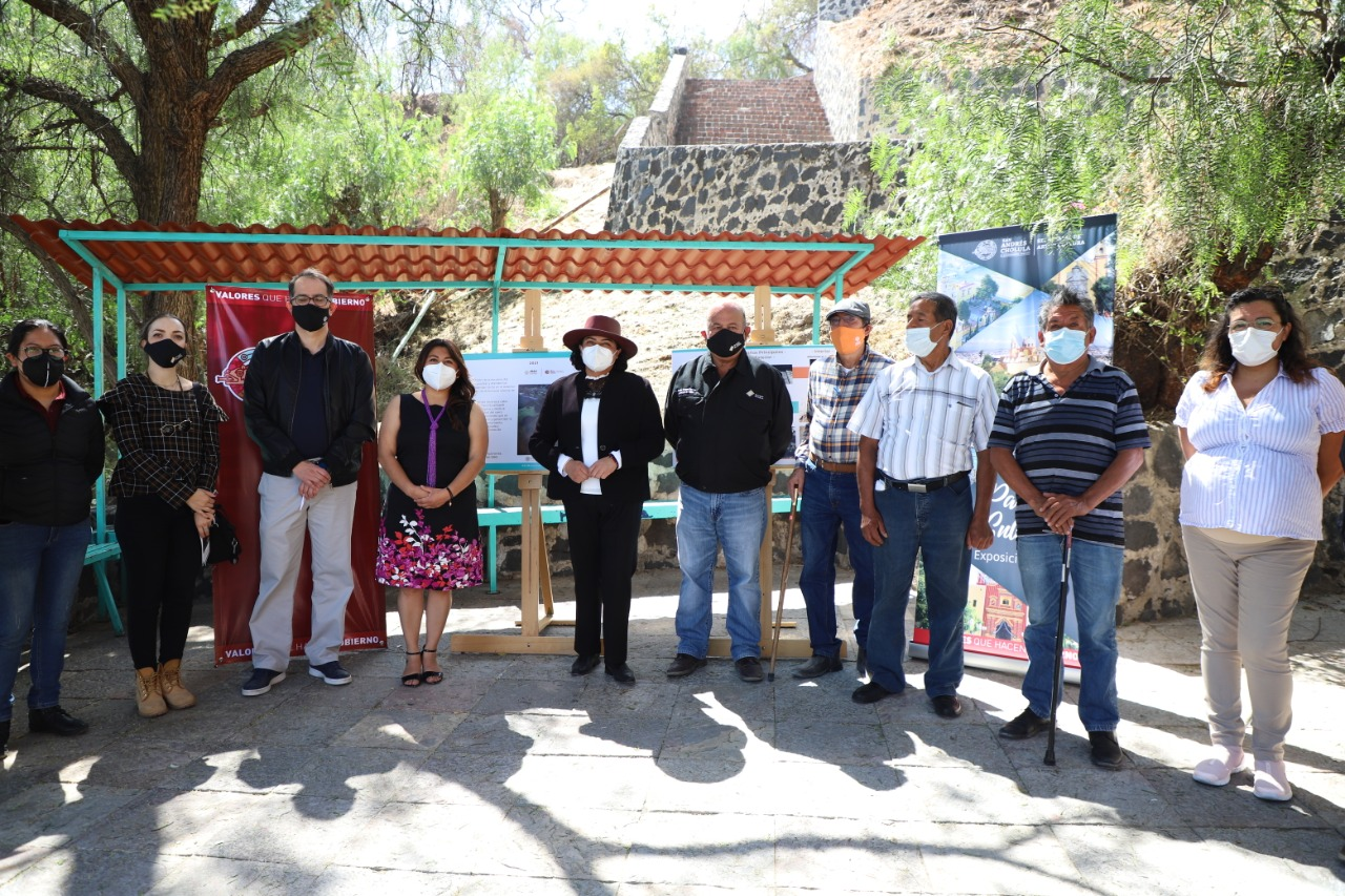 Desde San Andrés Cholula: Karina Pérez invierte en la restauración de la zona arqueológica