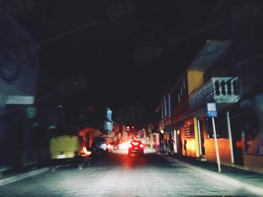 Apagones por segundo día consecutivo en Huauchinango