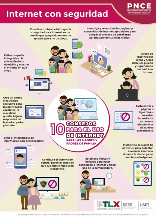 Difunde SEPE-USET consejos para el uso de internet en clases a distancia