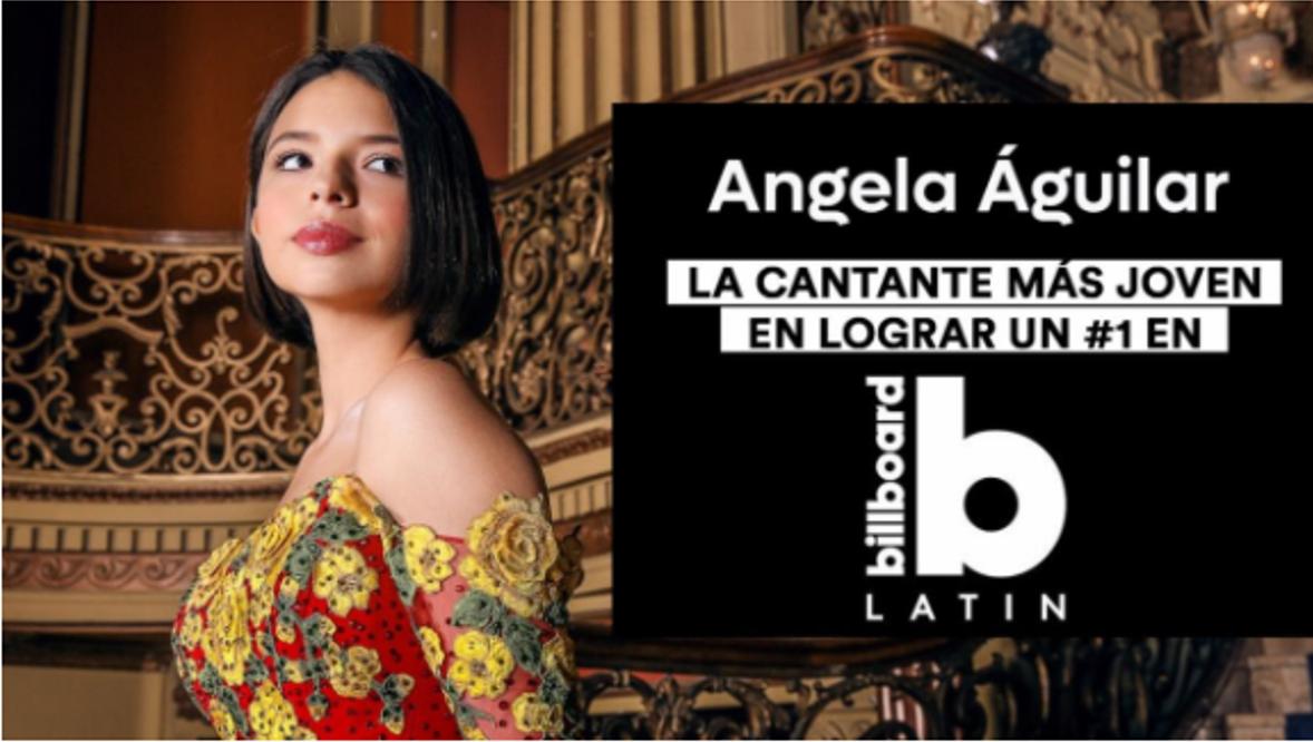 Ángela Aguilar se convierte en la cantante más joven en lograr #1 en Billboard