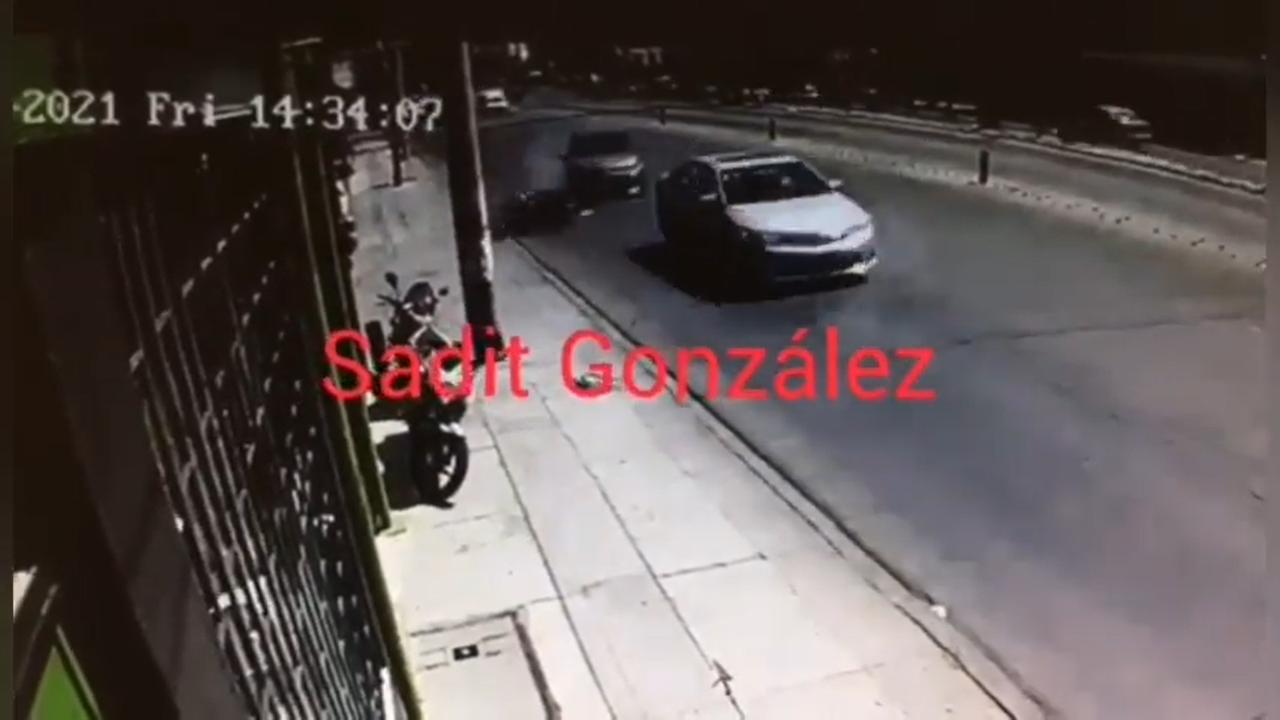Video desde Puebla: Así arrollaron a un motociclista en Puebla