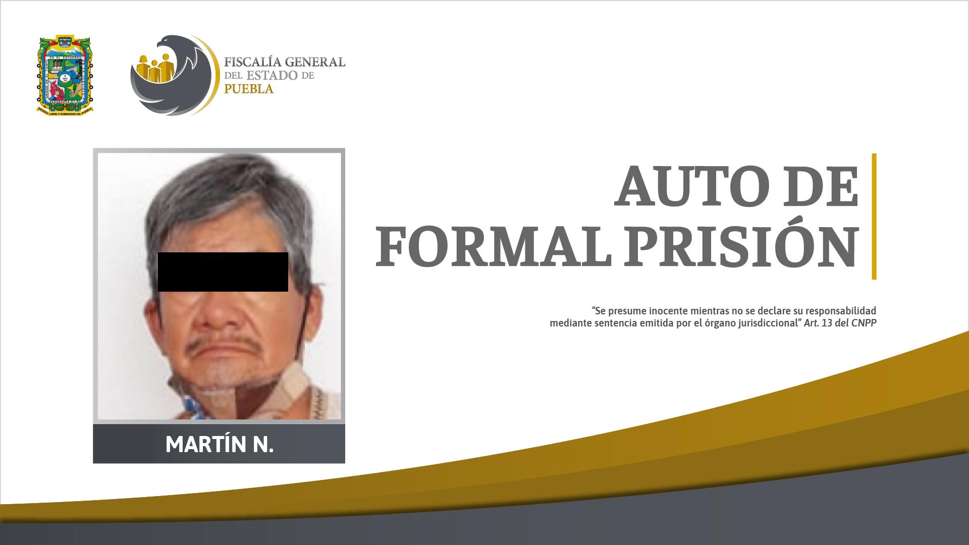 Auto de formal prisión por homicidio calificado en Yehualtepec