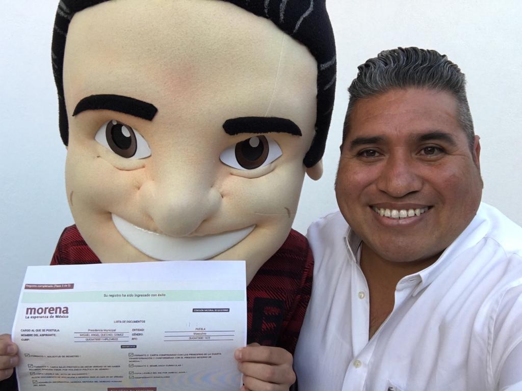 Miguel Ángel Quechol Gómez se registra para Presidente Municipal de San Andrés Cholula, por MORENA
