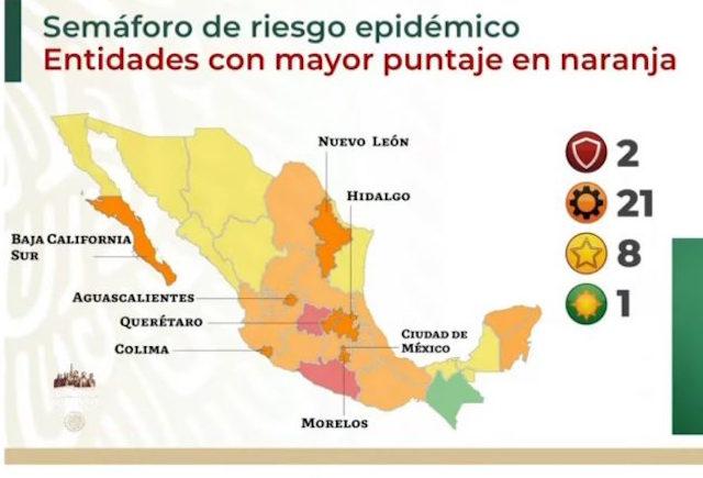Semáforo Covid: sólo Guanajuato y Guerrero en rojo; Chiapas regresa a verde