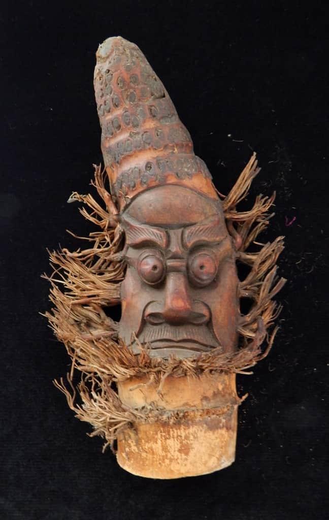 Máscaras de bambú