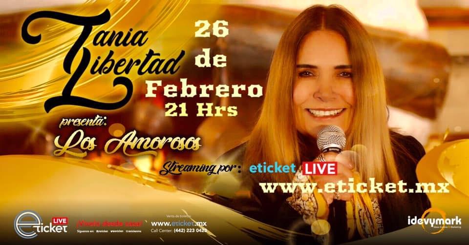 """Tania Libertad ofrecerá el concierto online """"Los Amorosos"""" este viernes 26 de febrero a las 21:00 horas (CDMX)"""