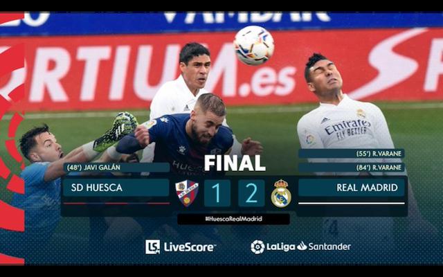 Se viste Raphael Varane de goleador en triunfo del Real Madrid