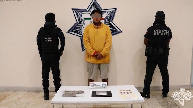 Policía Estatal captura a presunto narcomenudista que entregaba a domicilio