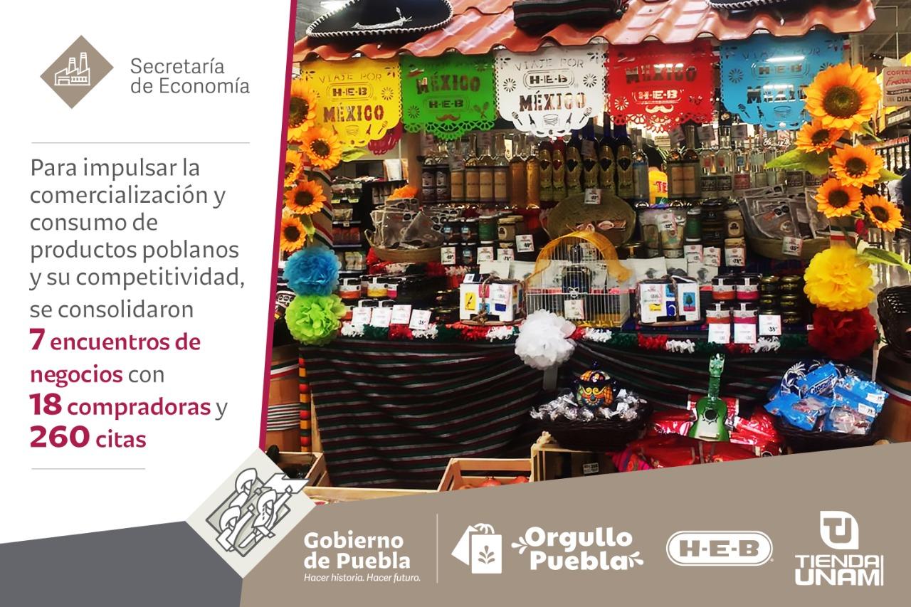 Promueve Secretaría de Economía productos poblanos