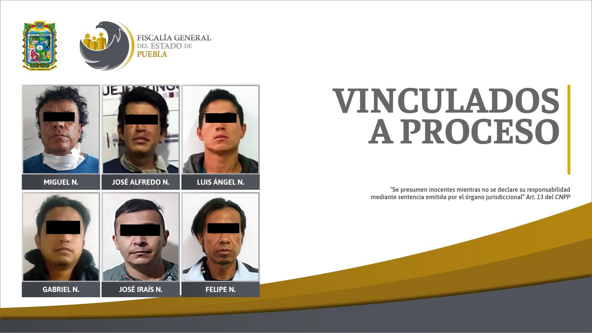 Seis hombres vinculados a proceso por violencia familiar