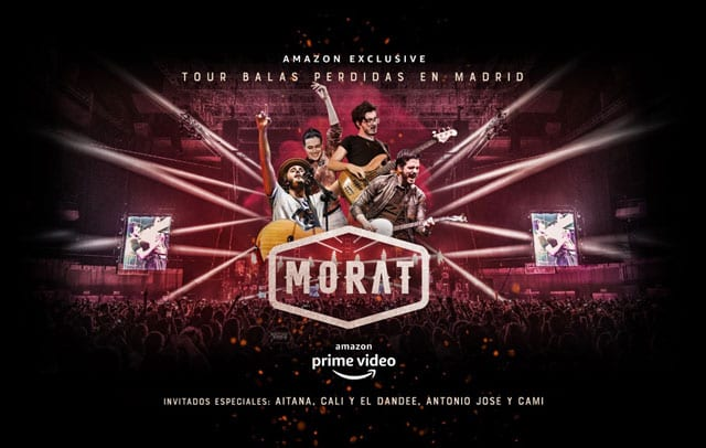 "Amazon Prime Video presentó en streaming ""Tour Balas Perdidas en Madrid"" de Morat"