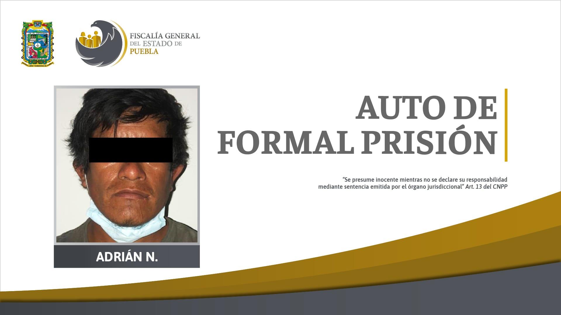 Auto de formal prisión contra señalado de agredir a sus hijos