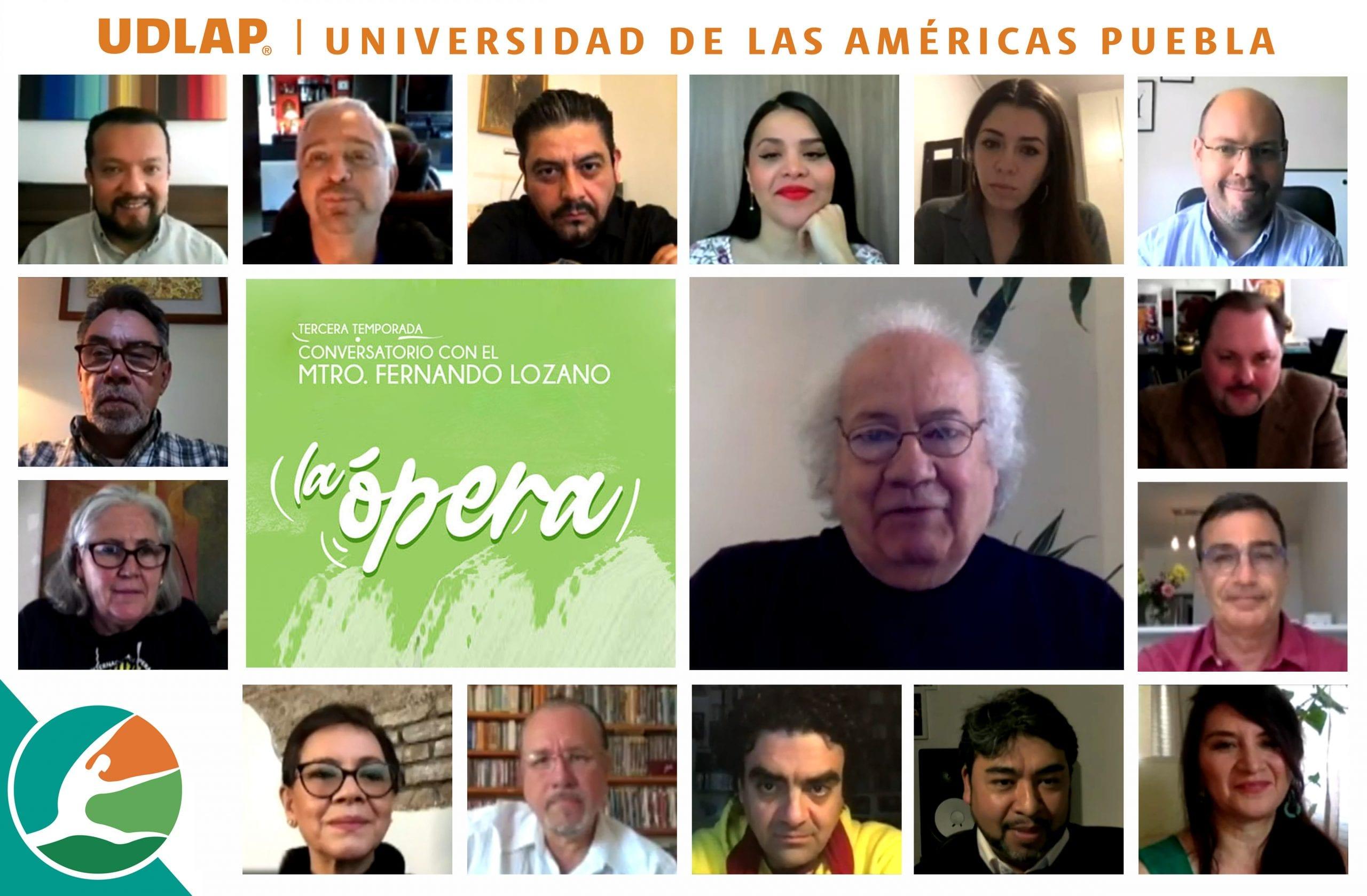 La UDLAP comparte el conocimiento del maestro Fernando Lozano en su ciclo de conversatorios