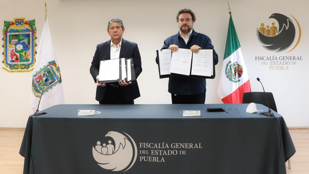 FGE y CCSJP firman convenios para mejoras en la procuración de justicia