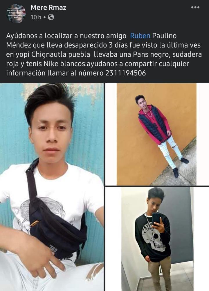 Hallan sin vida a un joven reportado como desaparecido en Chignautla