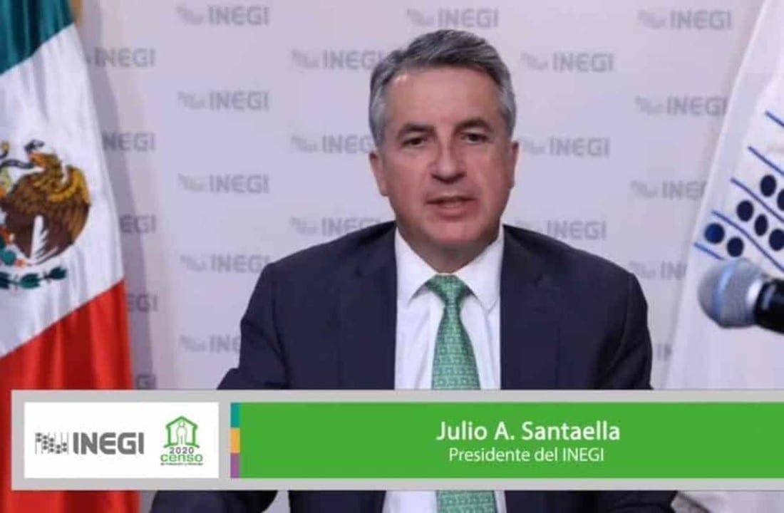 Julio Santaella, presidente del INEGI, dio a conocer los resultados del Cuestionario ampliado del Censo de Población y Vivienda 2020