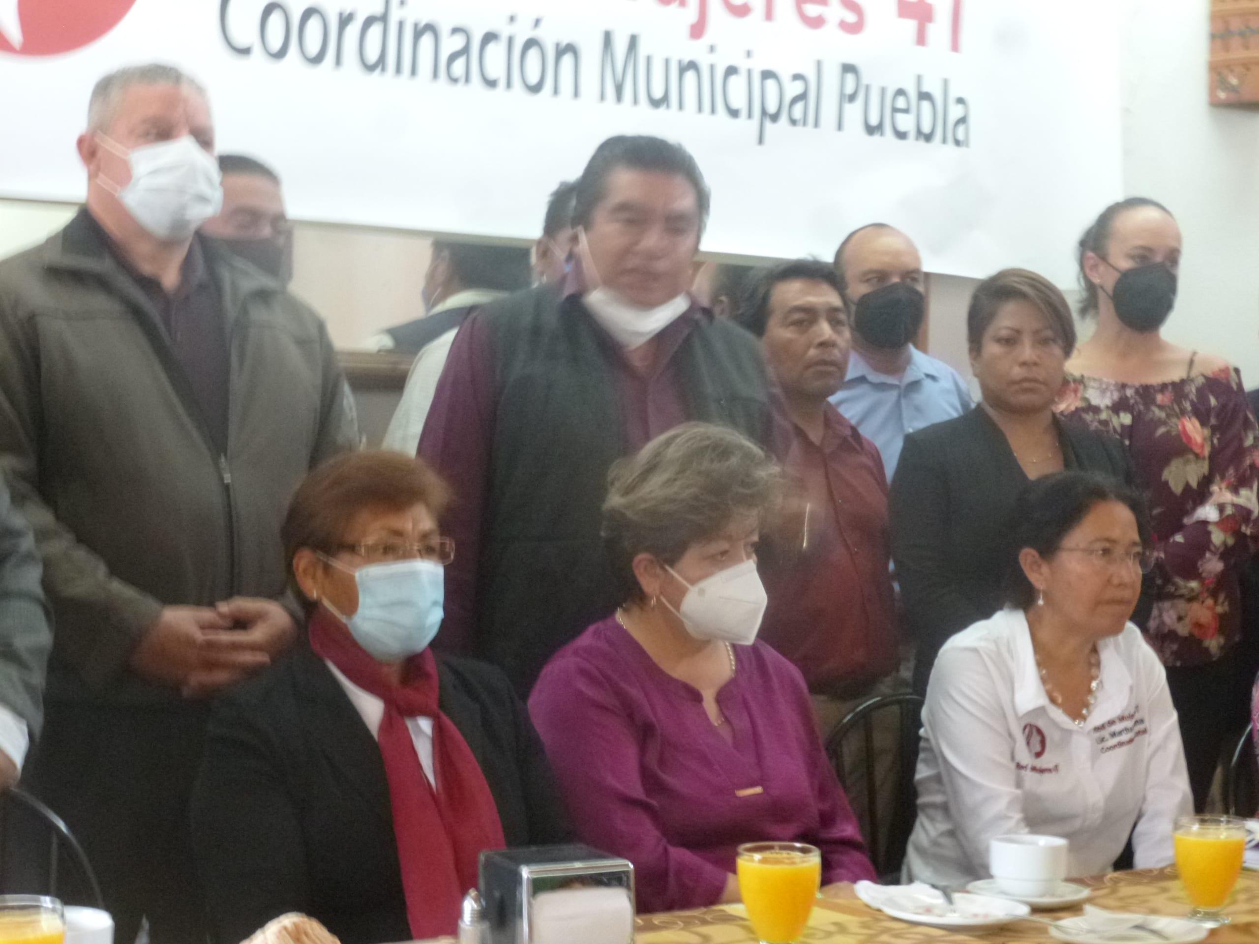 La Red de Mujeres 4T Puebla pide a Claudia Rivera desista de su interés de ser candidata