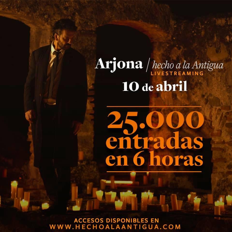 """Ricardo Arjona prepara el  concierto streaming """"Hecho a la Antigua"""""""