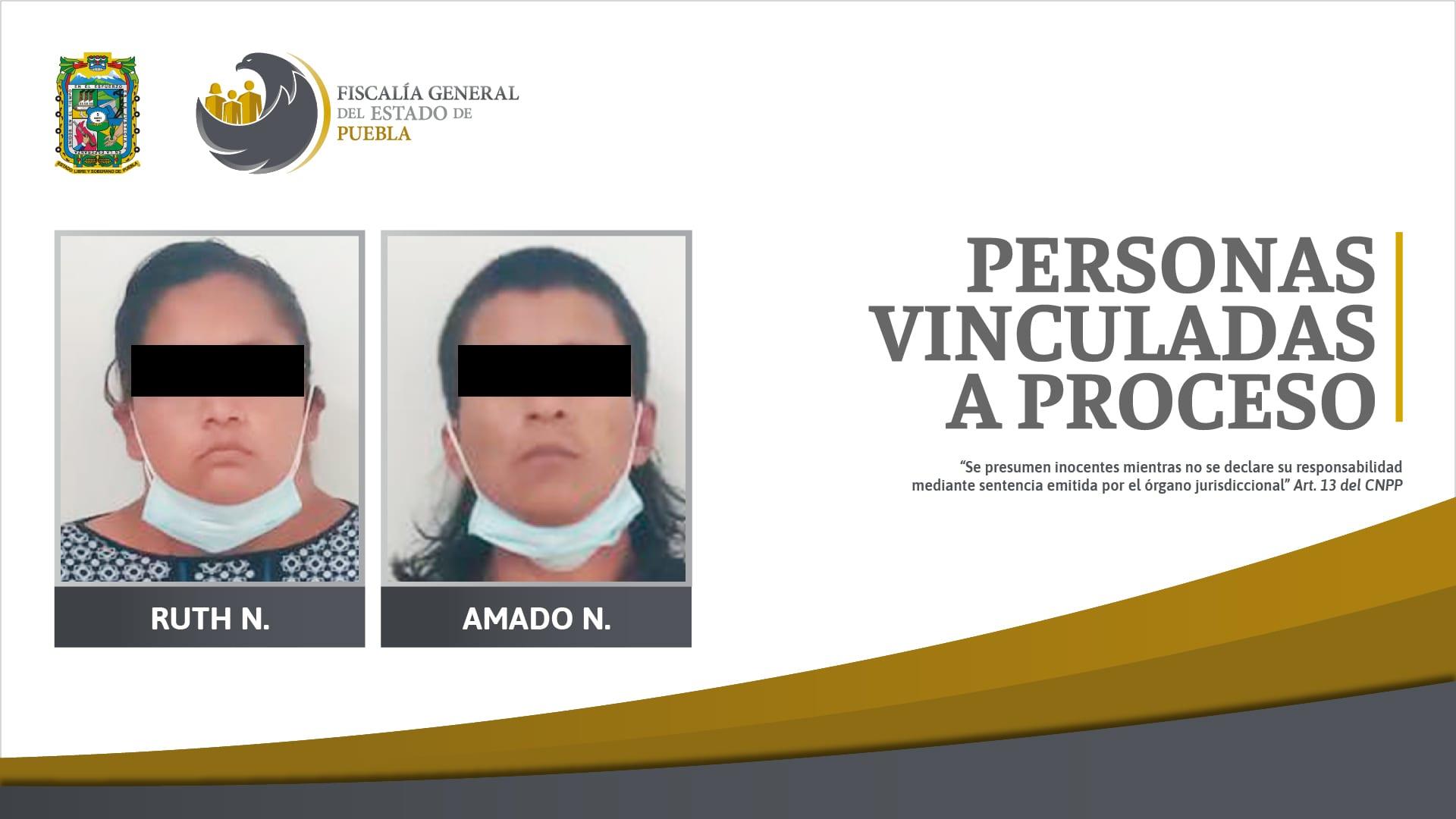 Fiscalía obtuvo vinculación a proceso de madre y padrastro por feminicidio de niña en Atlixco