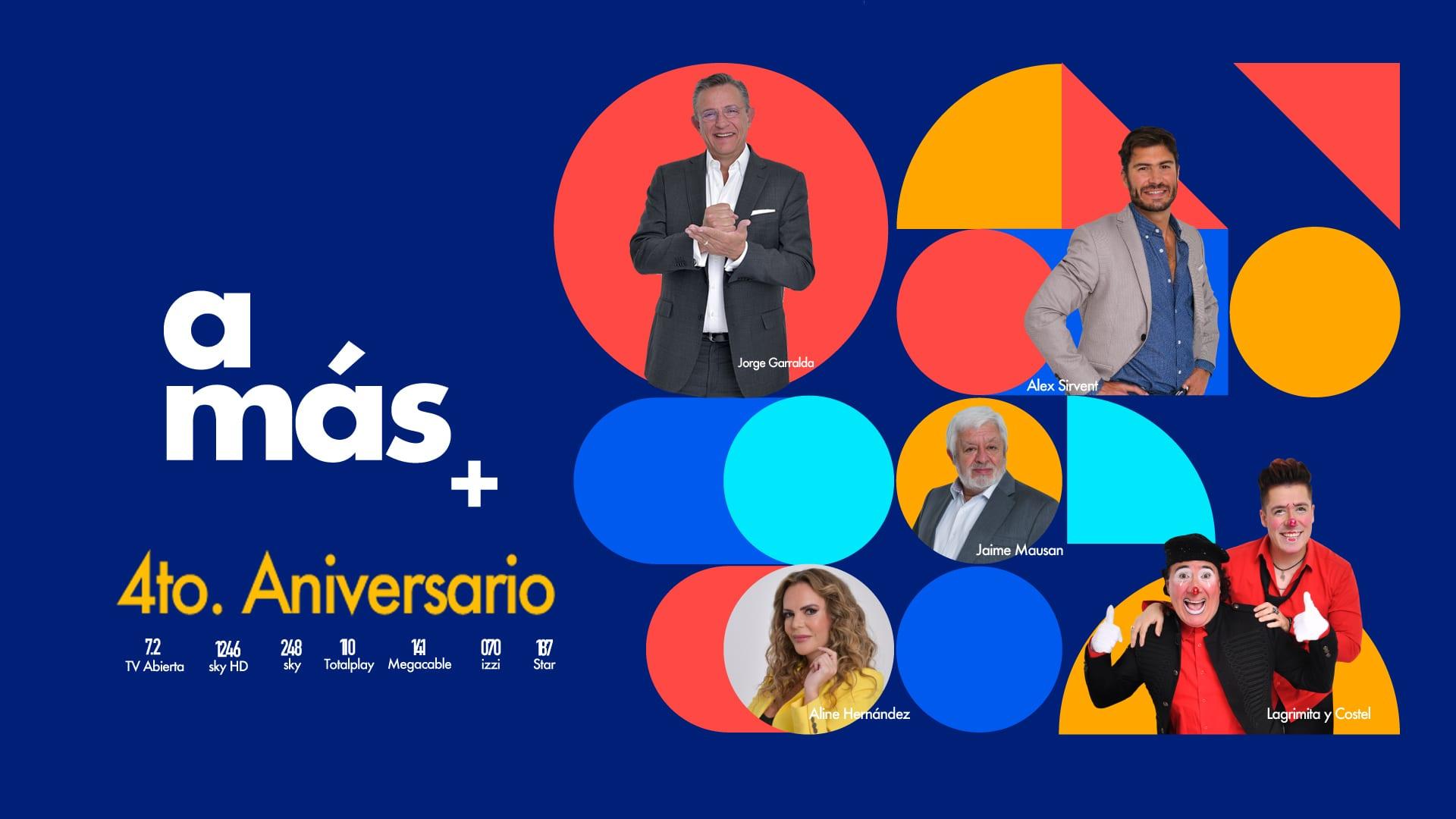"""El canal 7.2 de TV Azteca cambia de ser """"a+"""" a """"a más"""""""