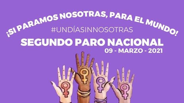 Bajo el lema #UnDíaSinNosotras, convocan a un paro nacional el 9 de marzo