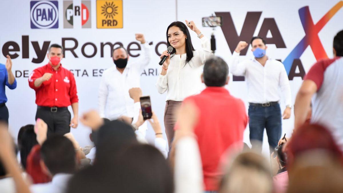 """Mely Romero Celis rinde protesta como candidata de """"Va por Colima"""" para la gubernatura del estado"""