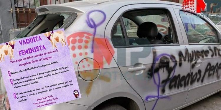 Dueñas de vehículos afectados por manifestantes feministas no han recibido apoyo alguno