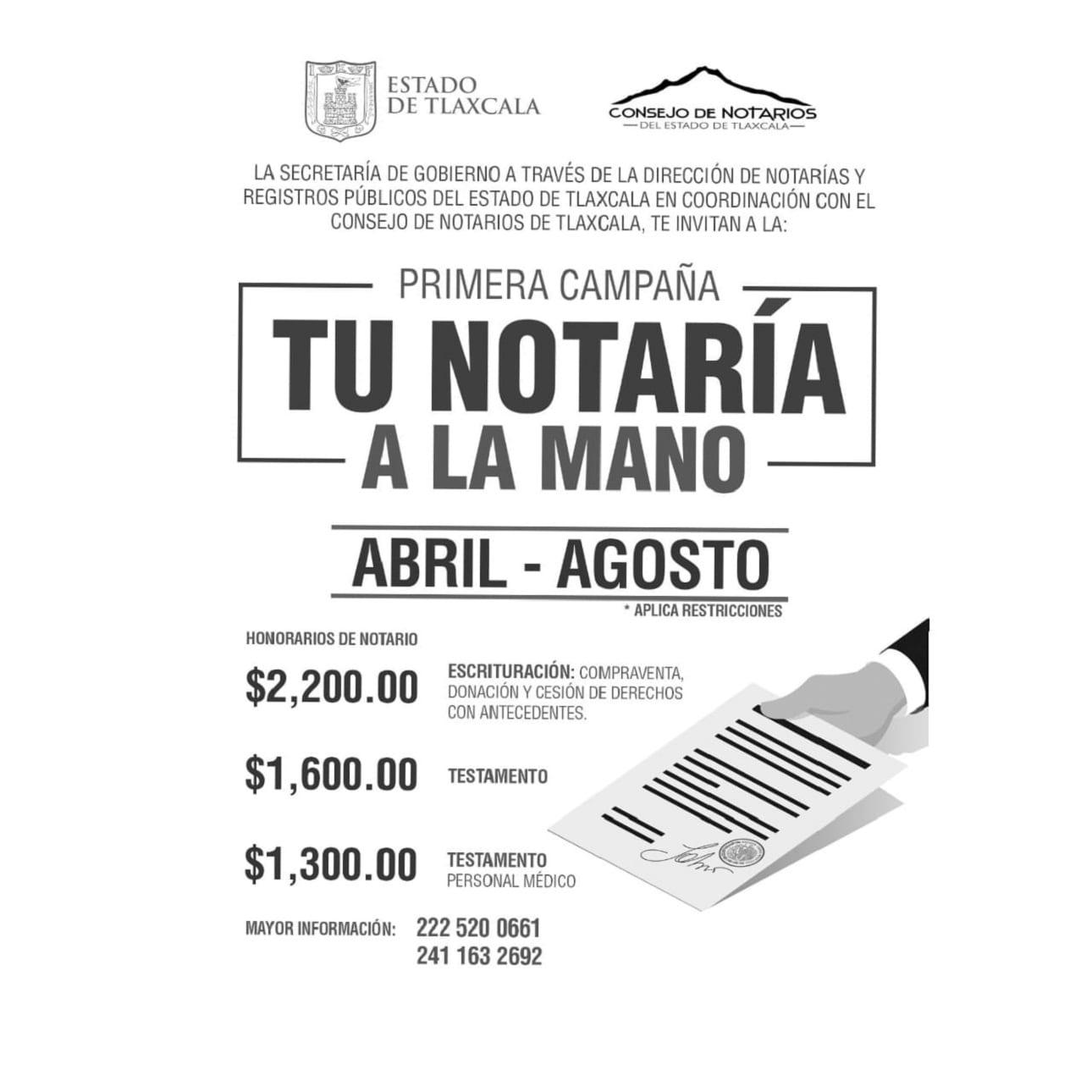 Firman Segob y Colegio de notarios del estado de Tlaxcala convenio de colaboración.