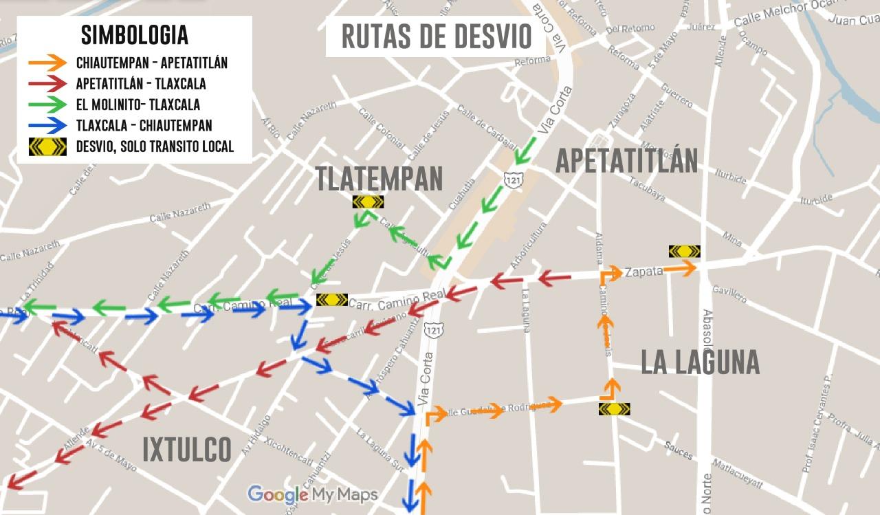 Desde Tlaxcala: SSC, CEPC y SECODUVI recomiendan tomar precauciones en viaducto San Pablo-Apetatitlan del 19 al 22 de abril.