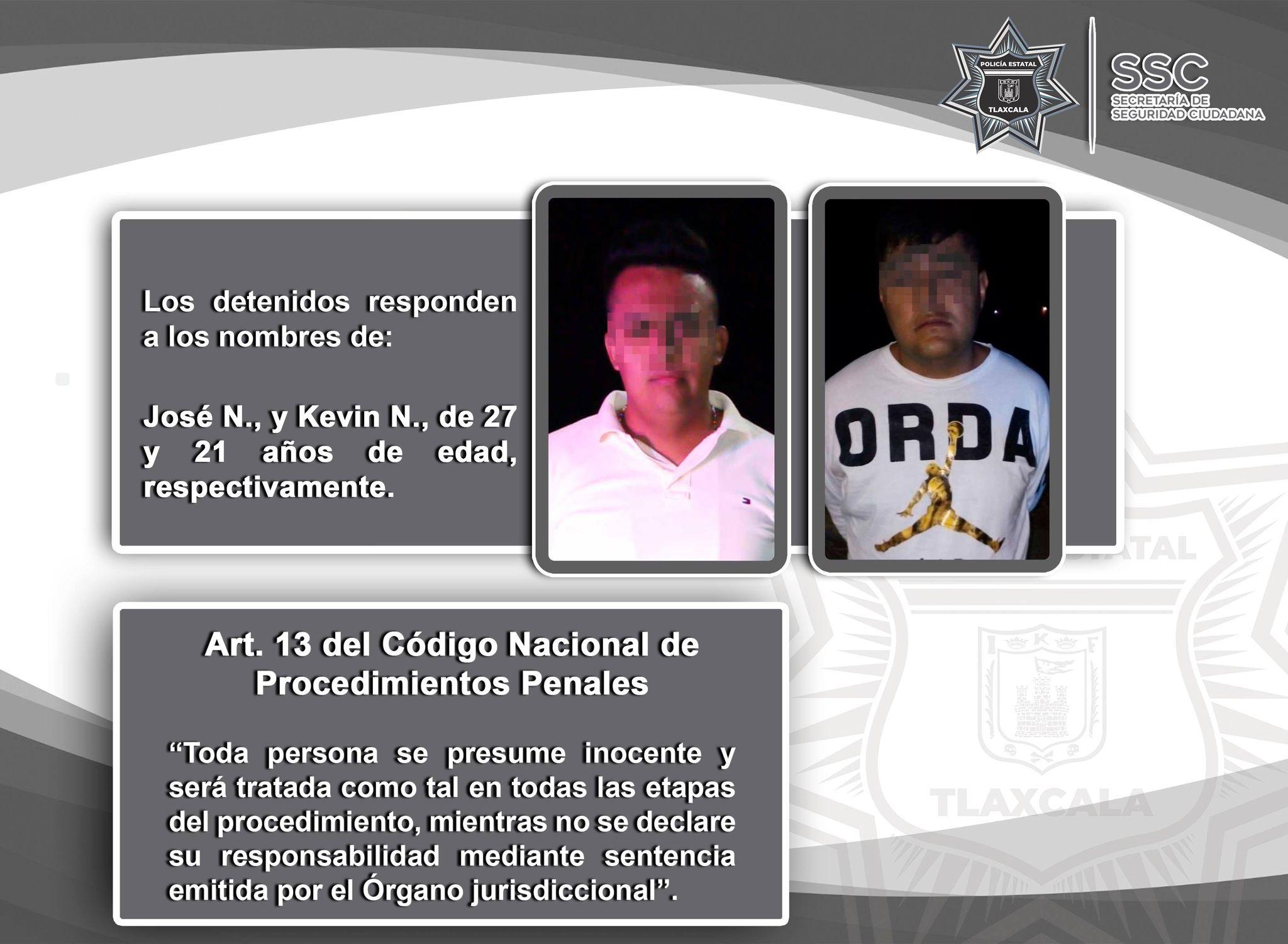 La SSC detiene en Tenancingo a dos personas por intento de asalto a transporte de carga