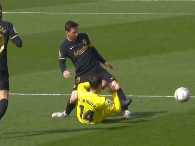 La brutal entrada que casi rompe a Messi