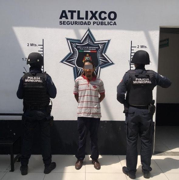 En Atlixco, es detenido un hombre por violencia doméstica
