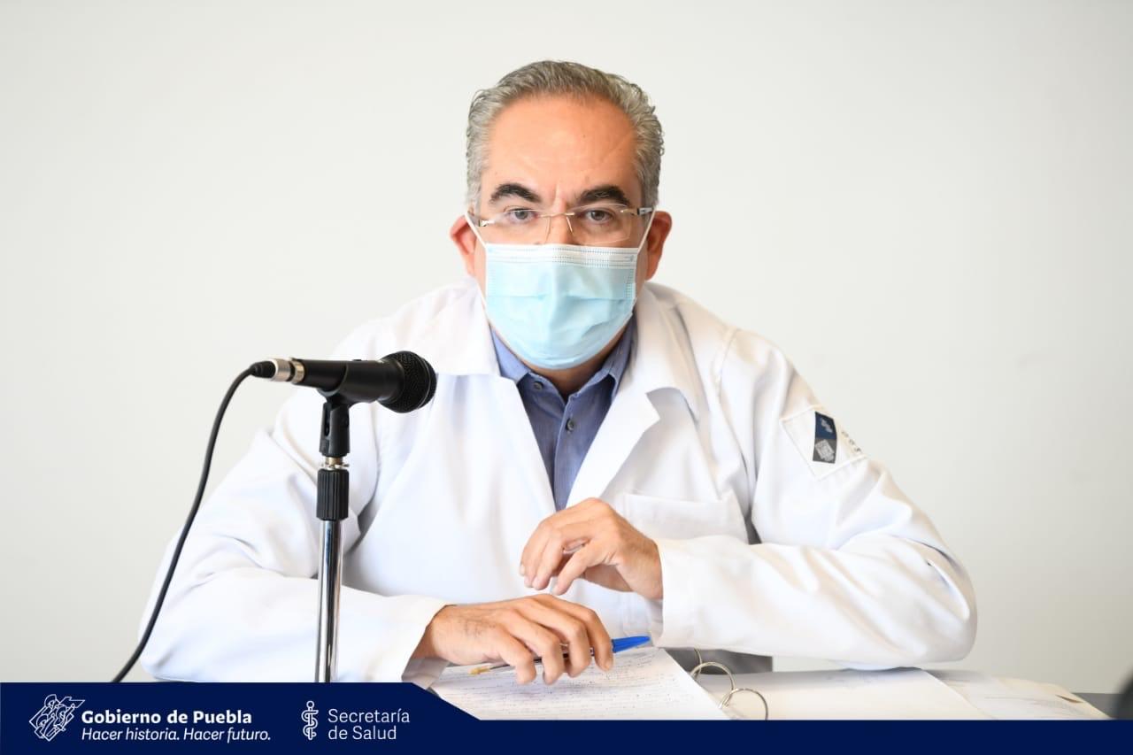 Video desde Puebla: En el estado hay 516 hospitalizados por covid-19, precisó José Antonio Martínez García