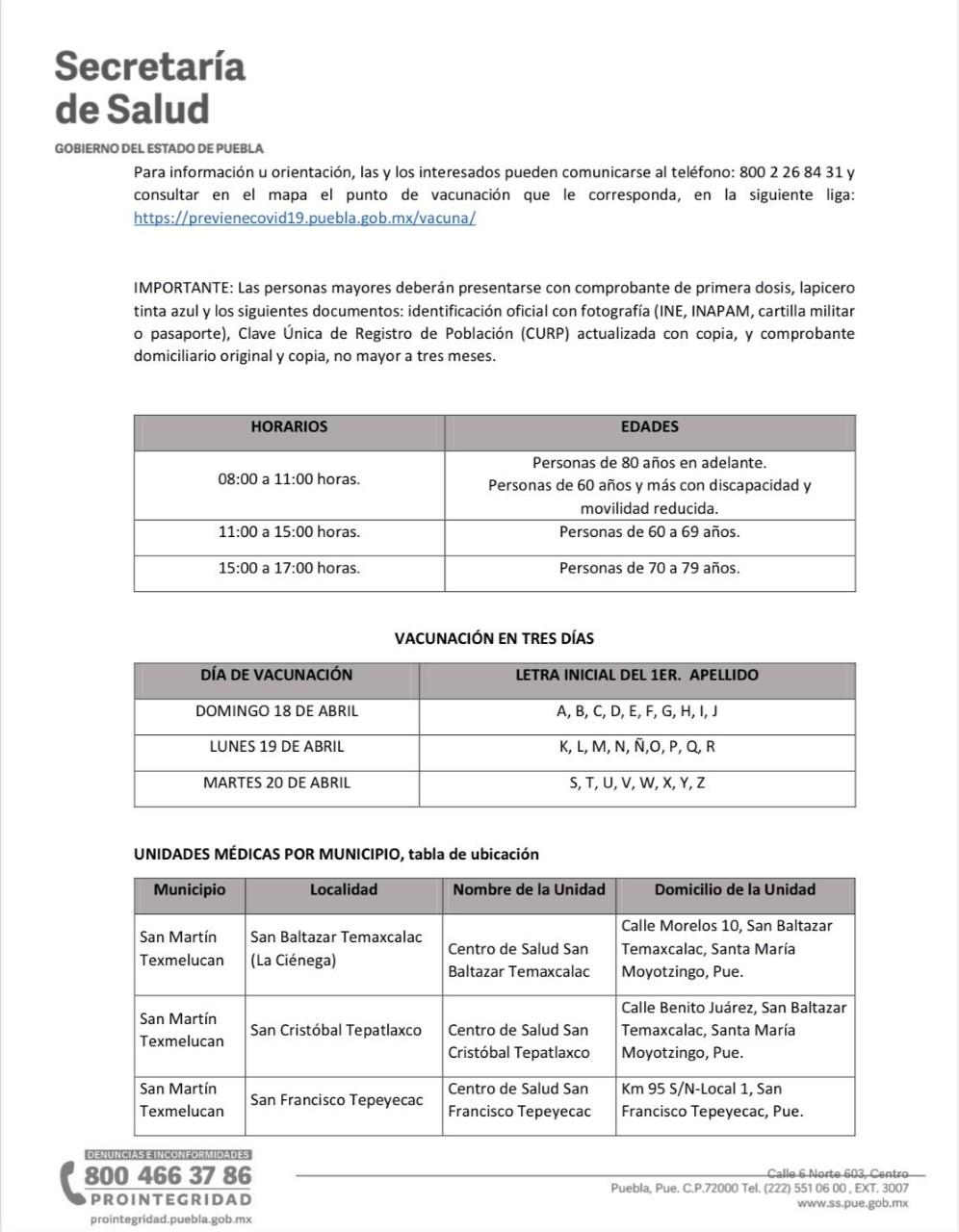 Domingo inicia aplicación de segunda vacuna contra el coronavirus en 9 municipios