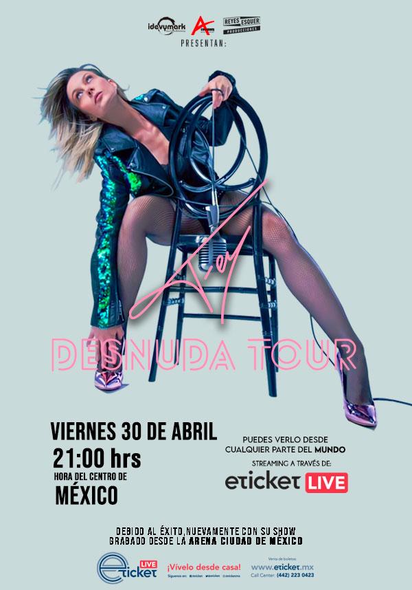 """Fey presentará """"Desnuda Tour"""" vía streaming el viernes 30 de abril"""
