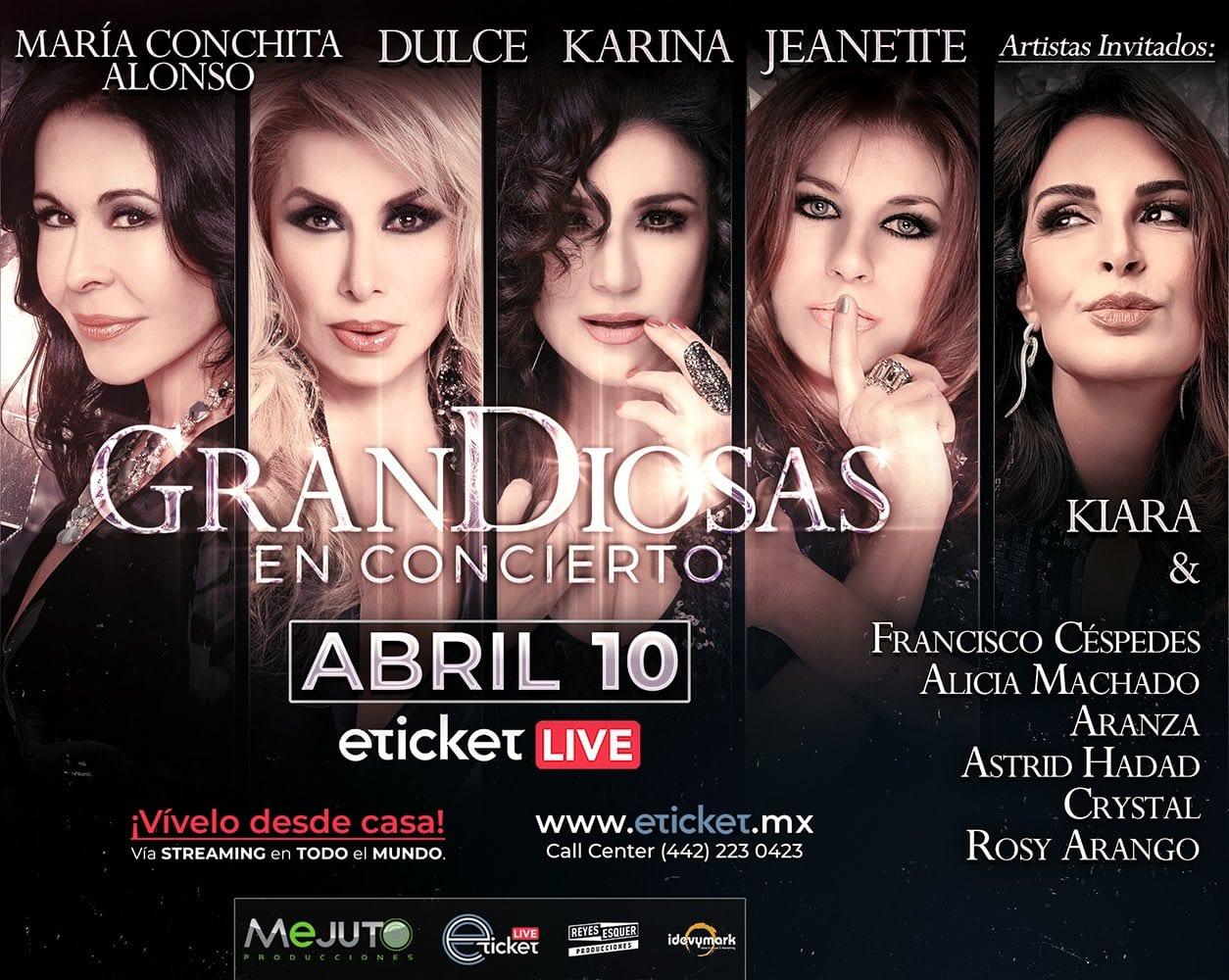 """""""Grandiosas"""" se transmitirá vía streaming con elenco titular y grandes invitadas internacionales"""