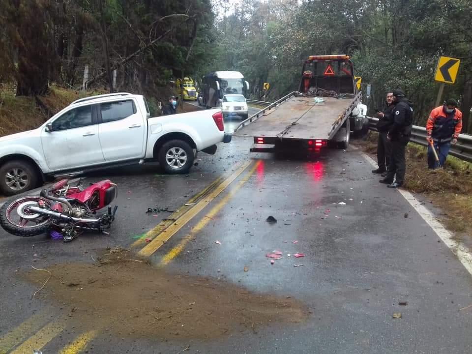 Accidente en la carretera Zacatlán-Huauchinango deja un muerto