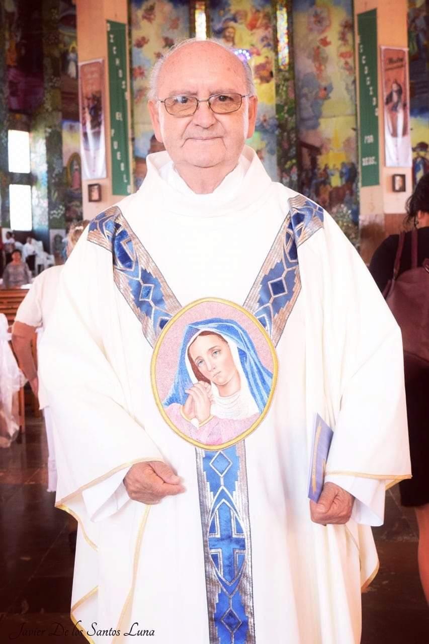 Celebra el Presbítero de Huauchinango José Gustavo Corona su Cumpleaños 85