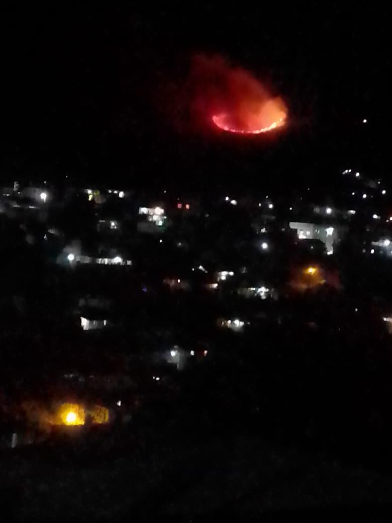 El incendio en el camino a Puga se encuentra controlado en un 97%