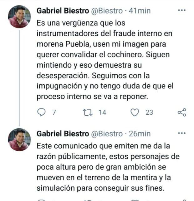 Mientras Édgar Garmendia presume unidad y competitividad en los candidatos de Morena; Gabriel Biestro reiteró su acusación de que el proceso interno fue un cochinero