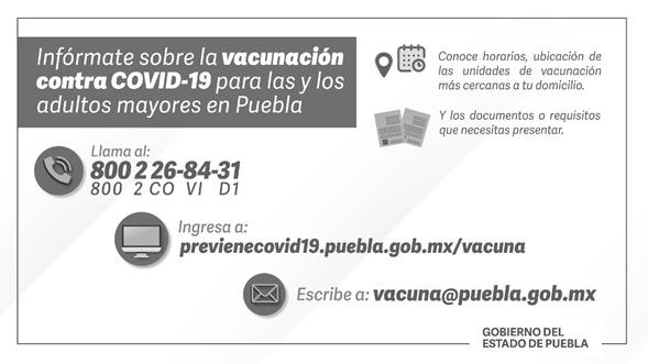 ¡AVISO! Este martes podrán vacunarse quienes no lo hicieron el lunes, confirman Sedena y Salud Puebla