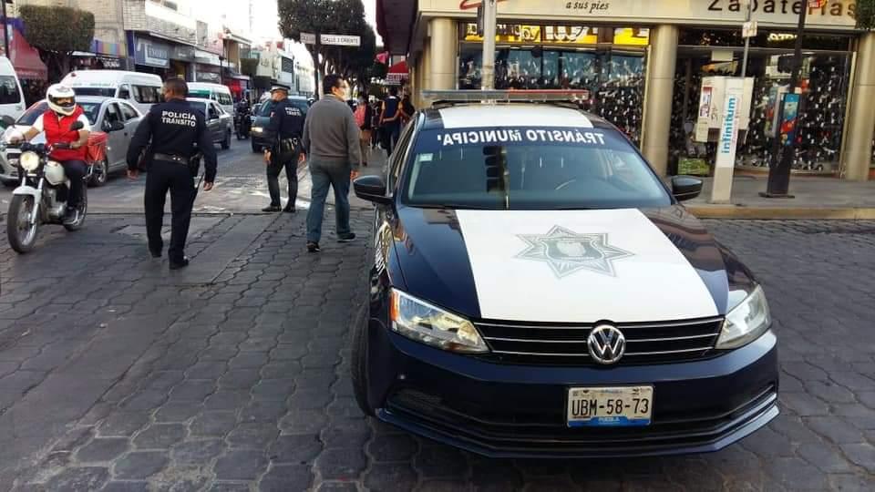 Policía de tránsito logra detención de ladrón en Tehuacán